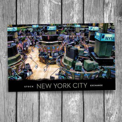 New York Stock Exchange Trading Floor Postcard