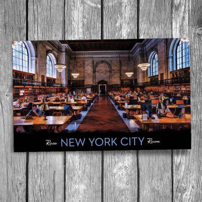 Rose Reading Room New York City Library Postcard