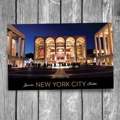 Lincoln Center New York City Postcard