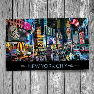 Times Square New York City Postcard