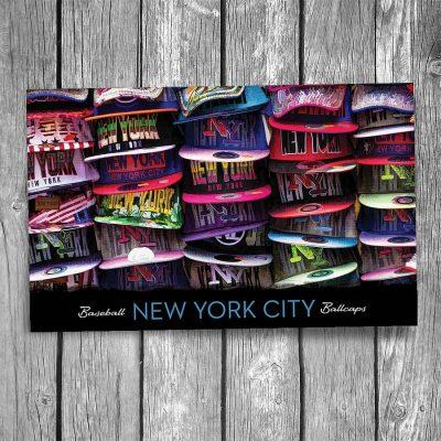 New York City Baseball Hats Postcard