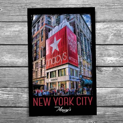 Macy's New York City Postcard