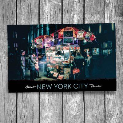 New York City Street Vendor Postcard