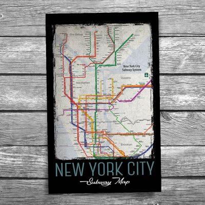 New York City Subway Map Postcard