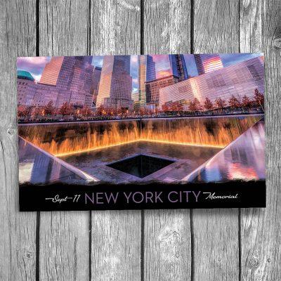 9-11 Memorial New York City Postcard