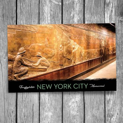 New York City Firefighter Memorial Postcard
