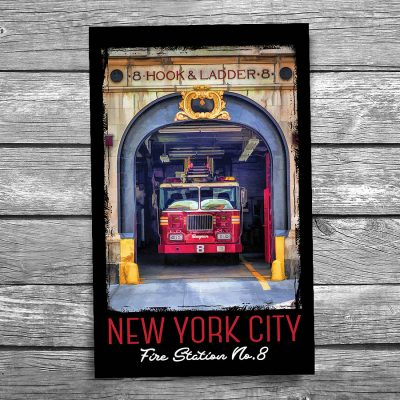 Ghostbusters Firestation New York City Postcard