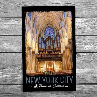 St Patrick's Cathedral Organ New York City Postcard