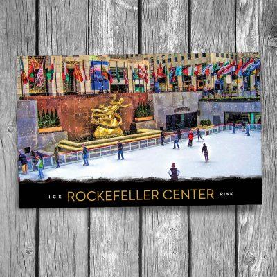 Rockefeller Center Ice Rink New York City Postcard