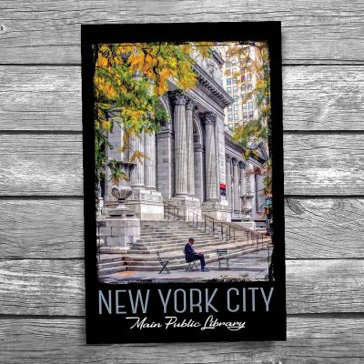 New York City Public Library Postcard