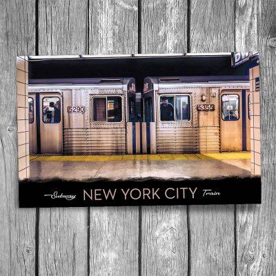New York City Subway Cars Postcard