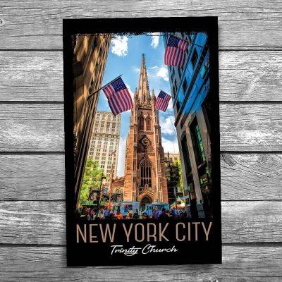 New York City Trinity Church Postcard