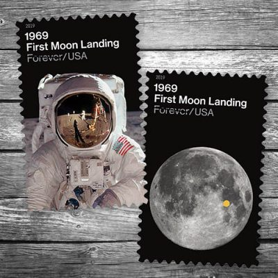 Moon Landing Postage Stamps